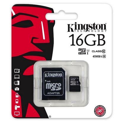 Imagen de MicroSD 16 GB  Kingston class 10