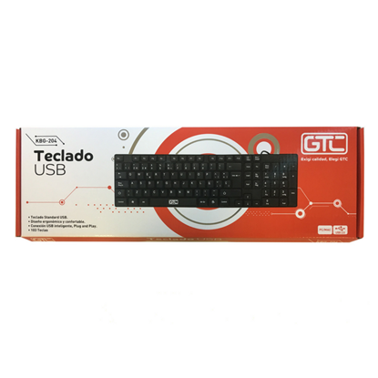 Imagen de TECLADO GTC USB KBG204U