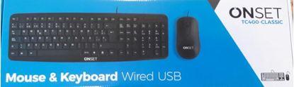 Imagen de KIT ONSET TC400 USB TECLADO+MOUSE