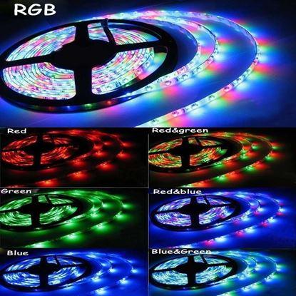 Imagen de TIRA LED RGB x 5 mts  sin TRAFO