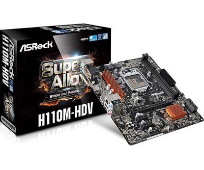 Imagen de ASROCK H110M-HDV DDR4 ATX BOX