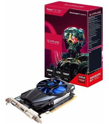 Imagen de PLACA DE VIDEO 2 GB RADEON R7 350 SAPPHIRE DDR5  HDMI / DVI-D / VGA