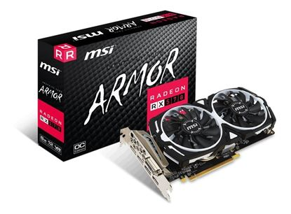 Imagen de PLACA DE VIDEO 8 GB DDR5 RADEON RX570 MSI ARMOR OC