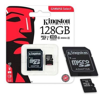 Imagen de MicroSD 128 GB  KINGSTON Clase 10
