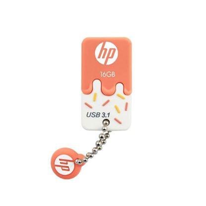 Imagen de PENDRIVE USB 16 GB HP X778w  NARANJA USB 3,1