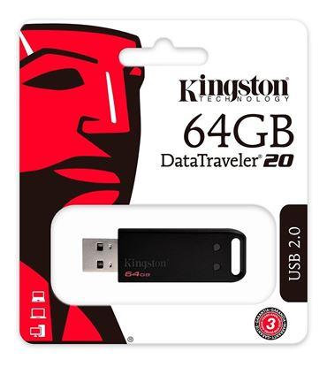 Imagen de PENDRIVE USB 2.0 64GB KINGSTON DT20