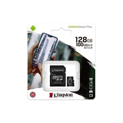 Imagen de MicroSD 128 GB  KINGSTON Clase 10 Select Plus (100 Mb/s)
