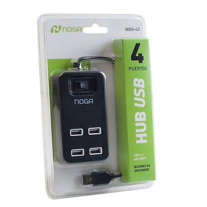 Imagen de HUB USB 4 bocas NOGA NGH-43 c/INTERRUPTORES