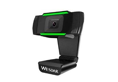 Imagen de WEBCAM WESDAR BLACK/GREEN con MIC /  USB   1080p