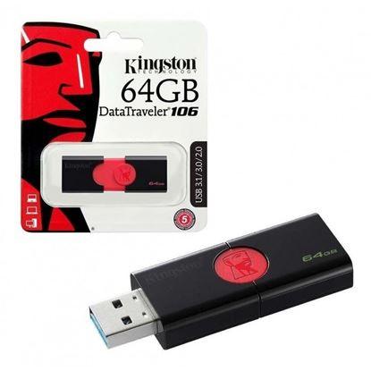 Imagen de PENDRIVE USB 3.0 64GB KINGSTON DT106